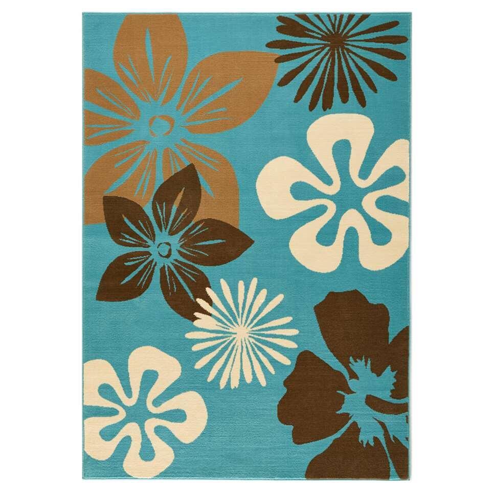 Hanse Home vloerkleed Flora - blauw - 160x230 cm - Leen Bakker
