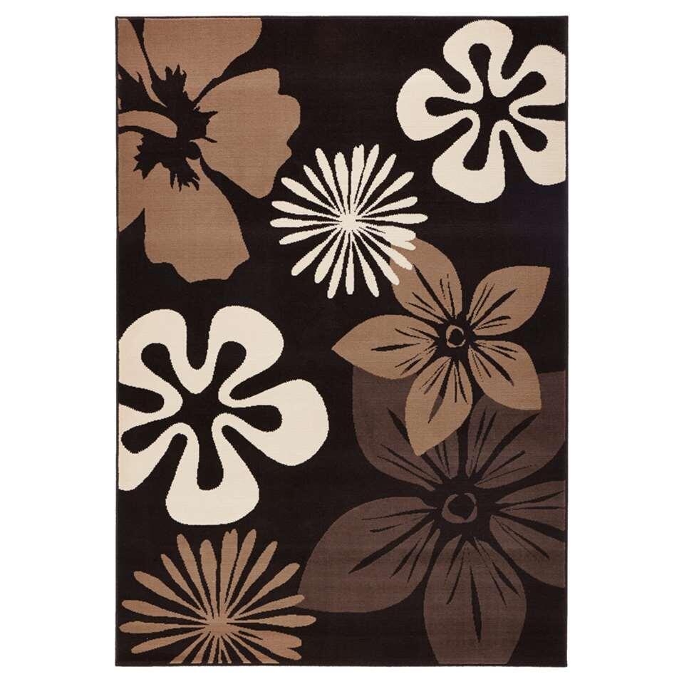 Hanse Home vloerkleed Flora - bruin - 80x150 cm - Leen Bakker