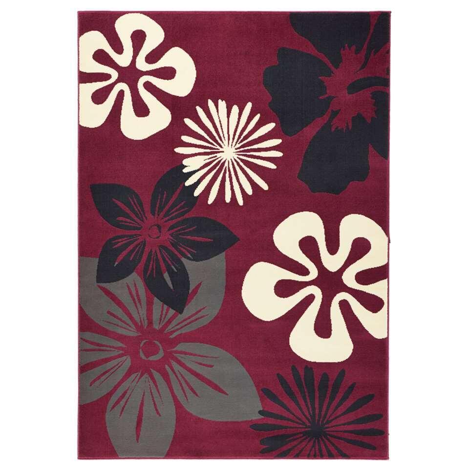 Hanse Home vloerkleed Flora - violet - 200x290 cm - Leen Bakker