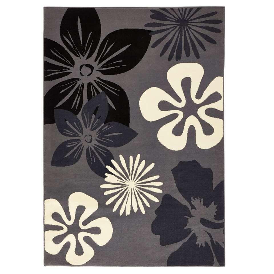 Hanse Home vloerkleed Flora - grijs - 80x150 cm - Leen Bakker