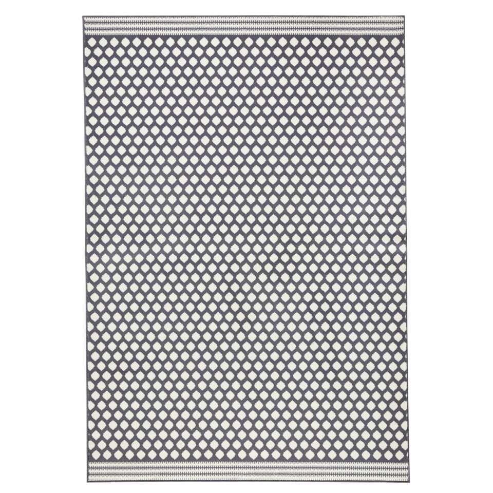 Zala Living vloerkleed Spot - grijs/crème - 200x290 cm - Leen Bakker