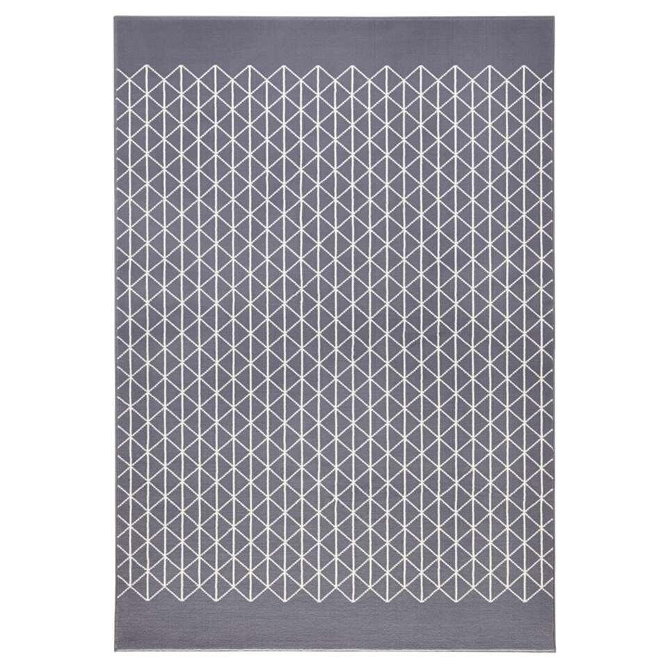 Zala Living vloerkleed Twist - grijs/crème - 140x200 cm - Leen Bakker
