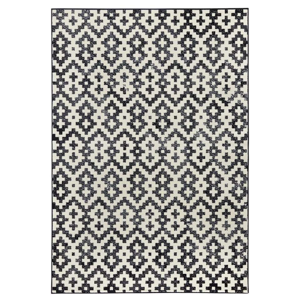 Zala Living vloerkleed Duo - grijs/crème - 70x140 cm - Leen Bakker