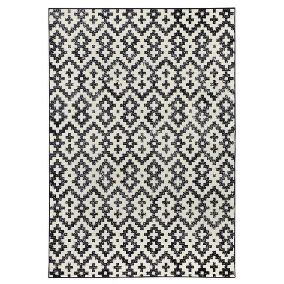 Zala Living vloerkleed Duo - grijs/crème - 160x230 cm - Leen Bakker