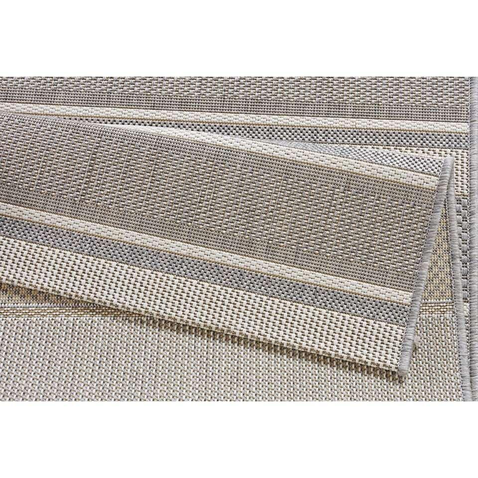 Bougari binnen/buitenvloerkleed Strap - grijs - 120x170 cm - Leen Bakker