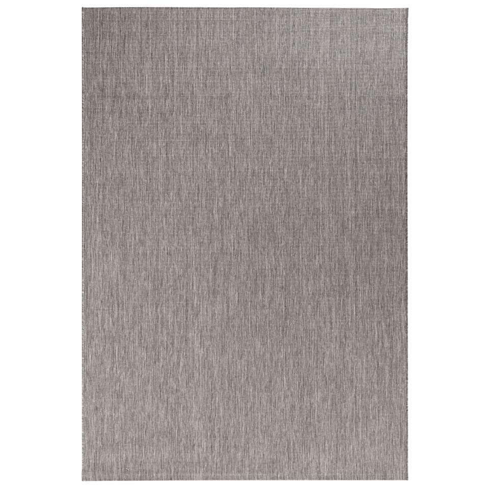 Bougari binnen/buitenvloerkleed Match - antraciet - 160x230 cm - Leen Bakker