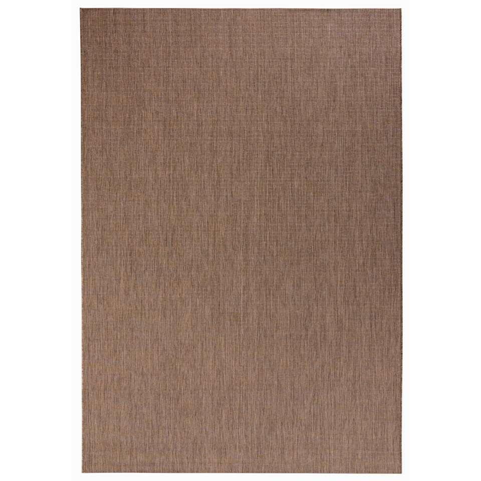 Bougari binnen/buitenvloerkleed Match - bruin - 200x290 cm - Leen Bakker