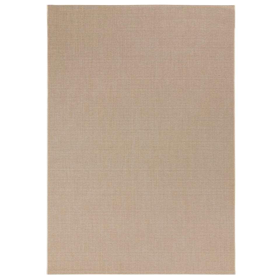 Bougari binnen/buitenvloerkleed Match - beige - 160x230 cm - Leen Bakker