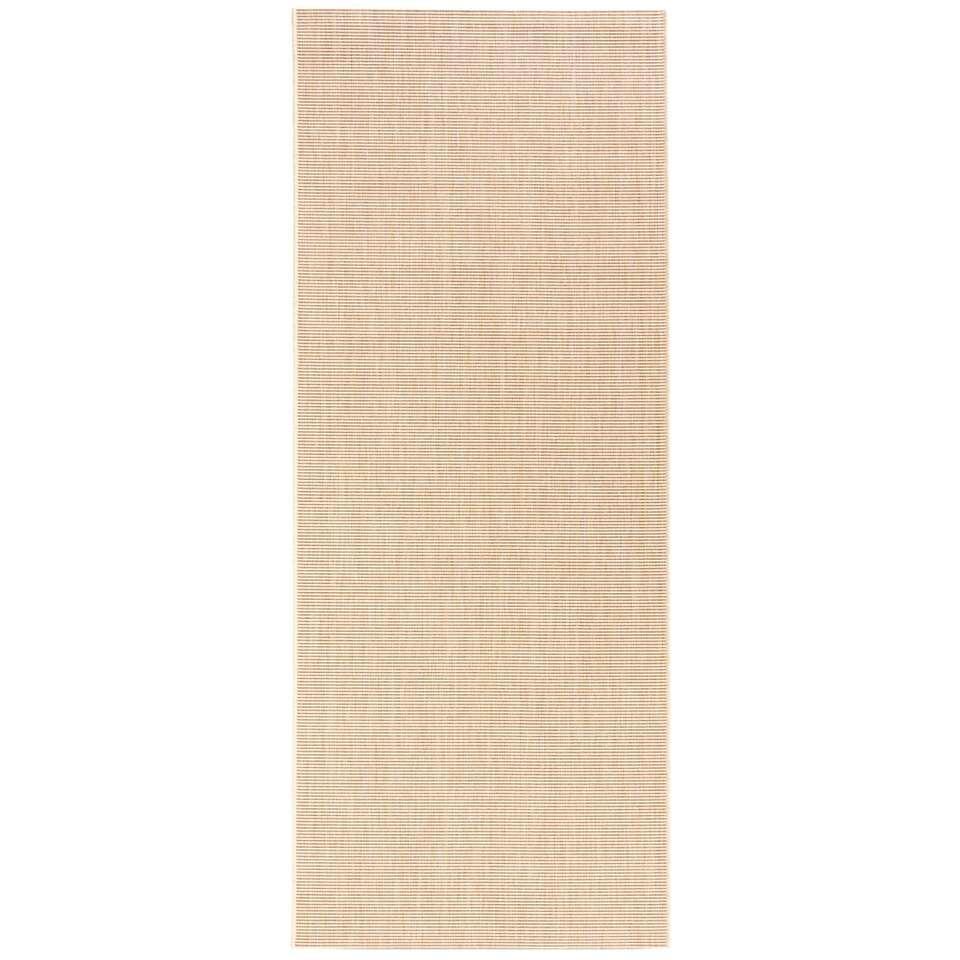 Bougari binnen/buitenvloerkleed Match - beige - 80x200 cm - Leen Bakker