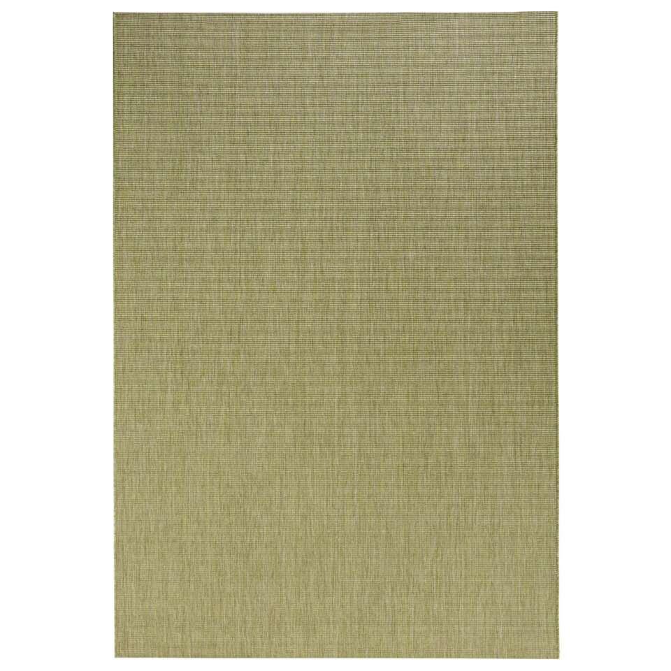 Bougari binnen/buitenvloerkleed Match - groen - 80x150 cm - Leen Bakker