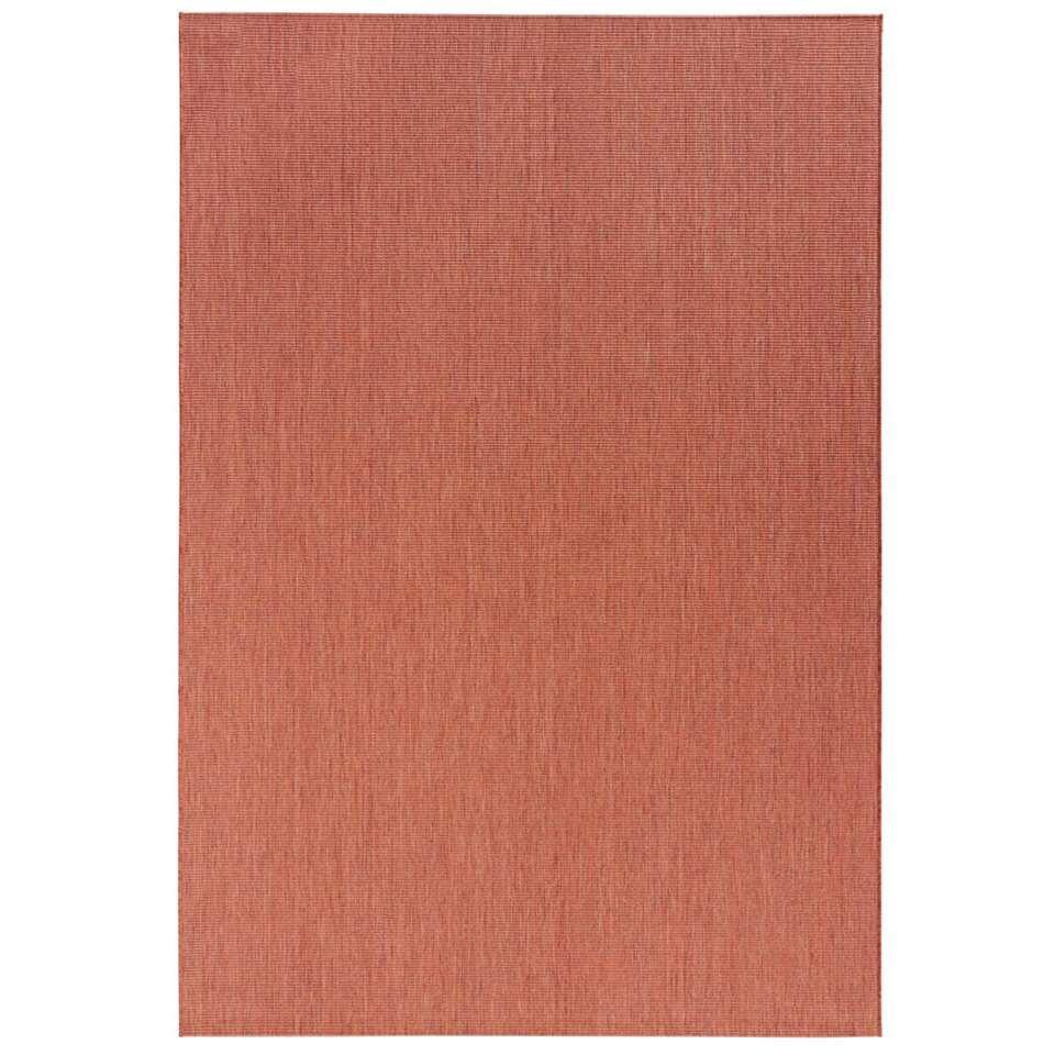 Bougari binnen/buitenvloerkleed Match - terracotta - 80x150 cm - Leen Bakker