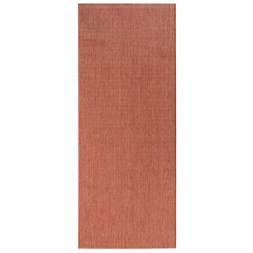 Bougari binnen/buitenvloerkleed Match - terracotta - 80x200 cm - Leen Bakker