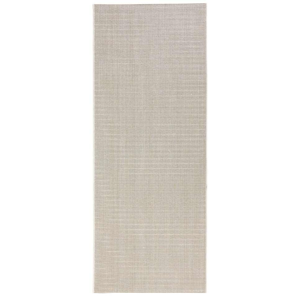 Bougari binnen/buitenvloerkleed Match - crème - 80x200 cm - Leen Bakker