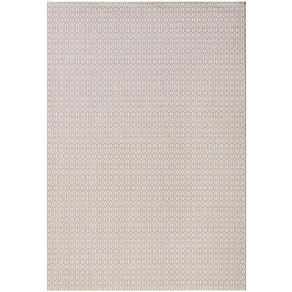 Bougari binnen/buitenvloerkleed Coin - grijs - 140x200 cm - Leen Bakker
