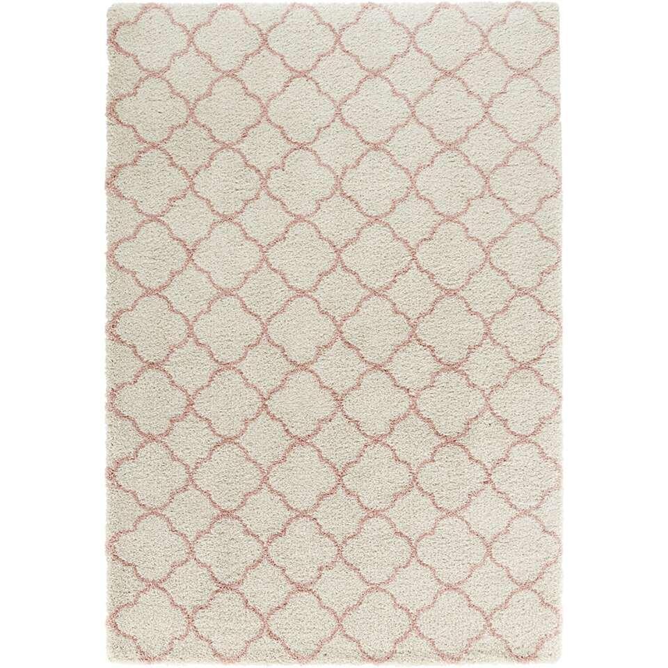 Mint Rugs vloerkleed Luna - crème/roze - 120x170 cm - Leen Bakker