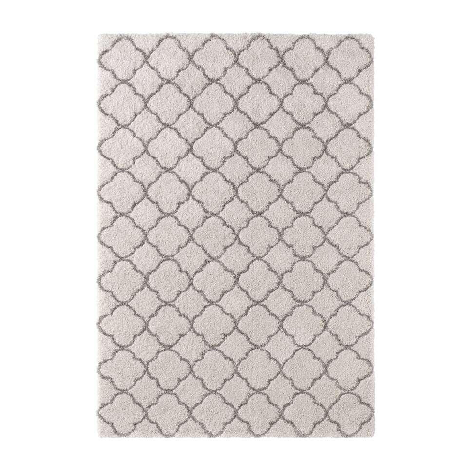 Mint Rugs vloerkleed Luna - grijs/crème - 160x230 cm - Leen Bakker