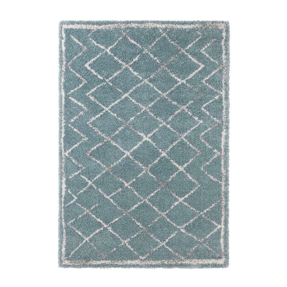 Mint Rugs vloerkleed Loft - blauw/crème - 120x170 cm - Leen Bakker