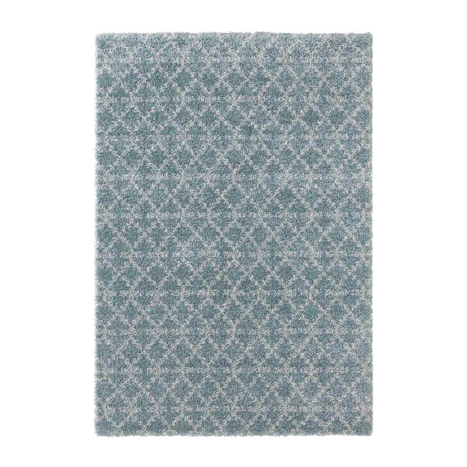 Mint Rugs vloerkleed Cameo - blauw/crème - 80x150 cm - Leen Bakker