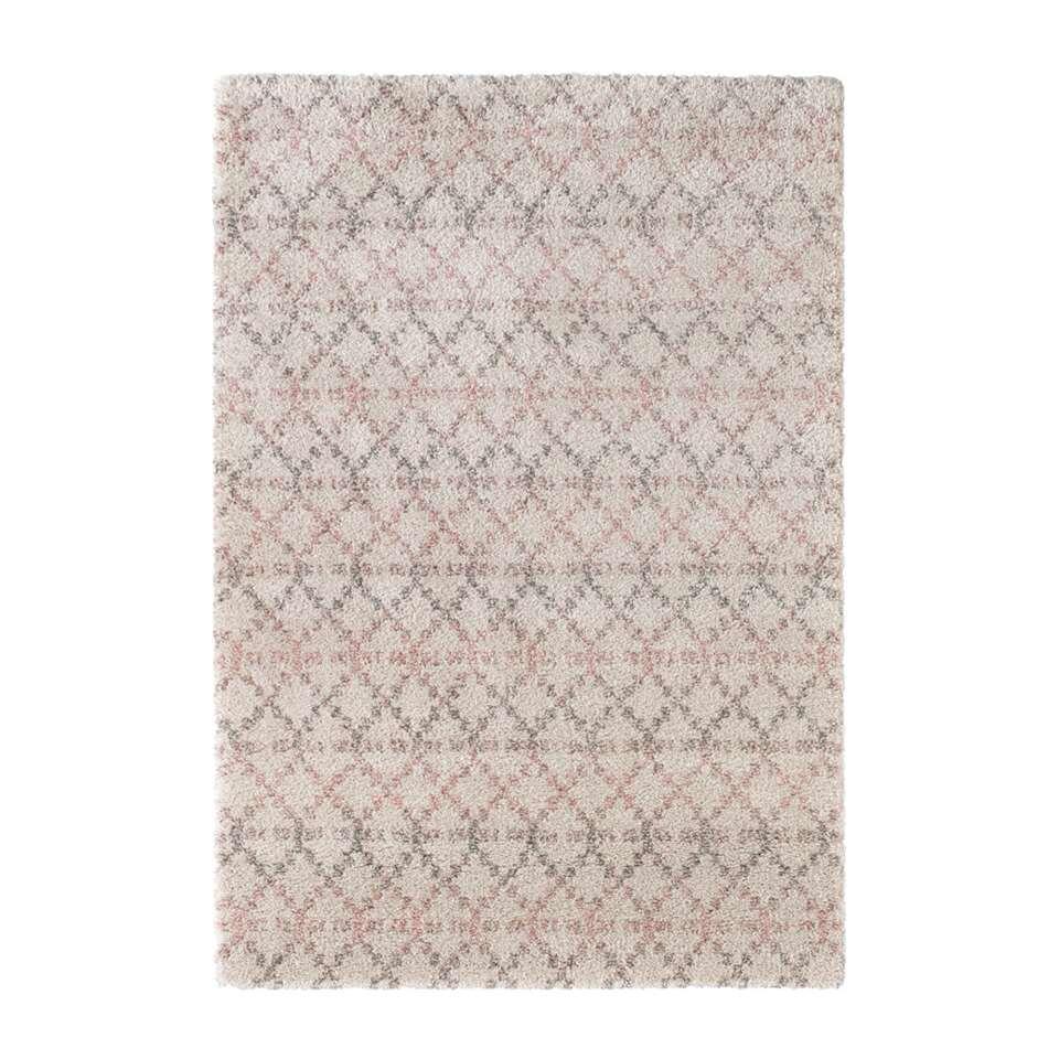 Mint Rugs vloerkleed Cameo - crème/roze - 200x290 cm - Leen Bakker