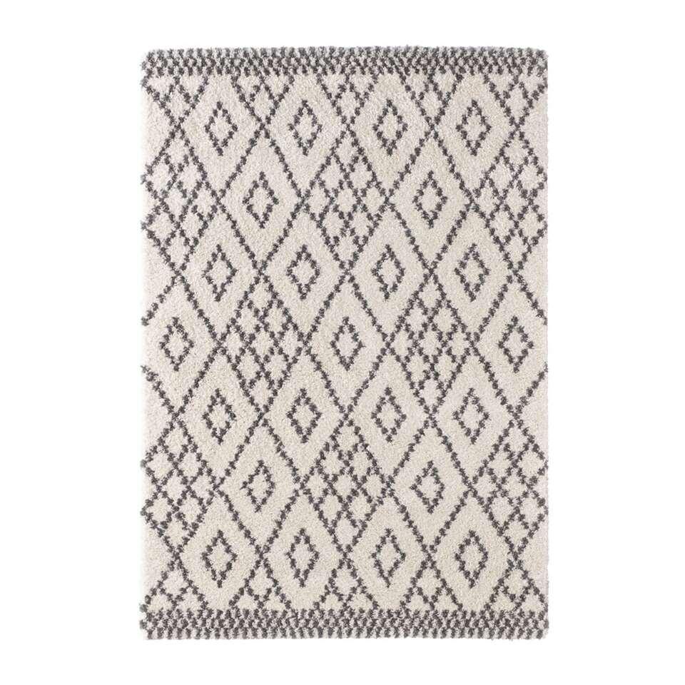Mint Rugs vloerkleed Chess - crème/grijs - 80x150 cm - Leen Bakker