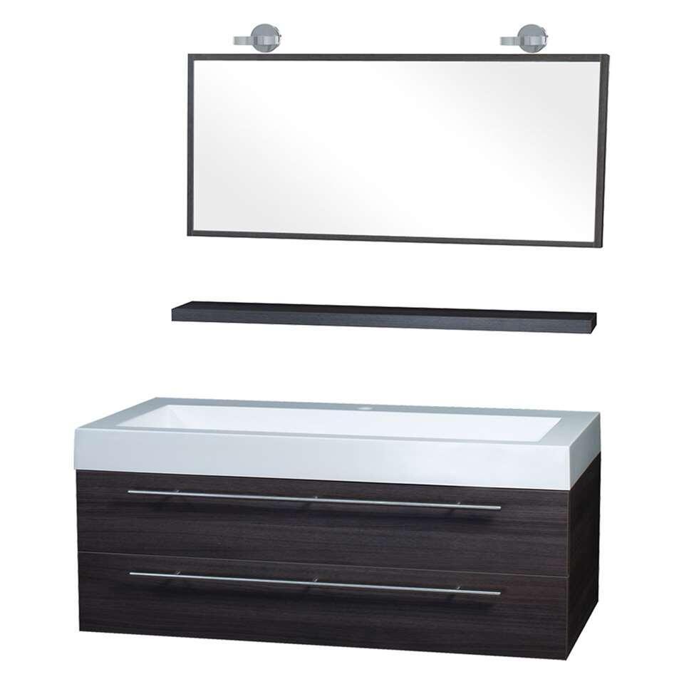 Differnz badkamermeubel Force - grijs - 125 cm - incl. verlichting