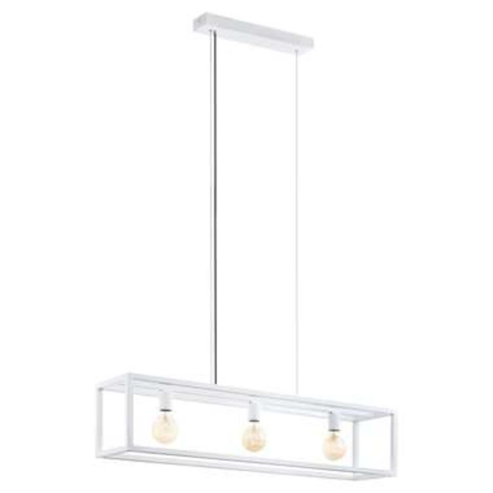 EGLO hanglamp Elswick 3-lichts - wit