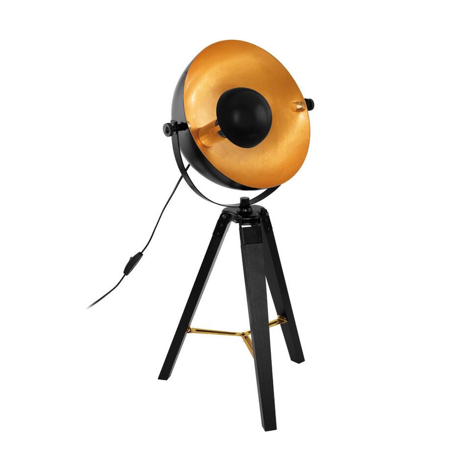 Tafellamp Covaleda van EGLO is een stoere en moderne tafellamp. Door de touch of gold krijgt de tafellamp een erg chique uitstraling.