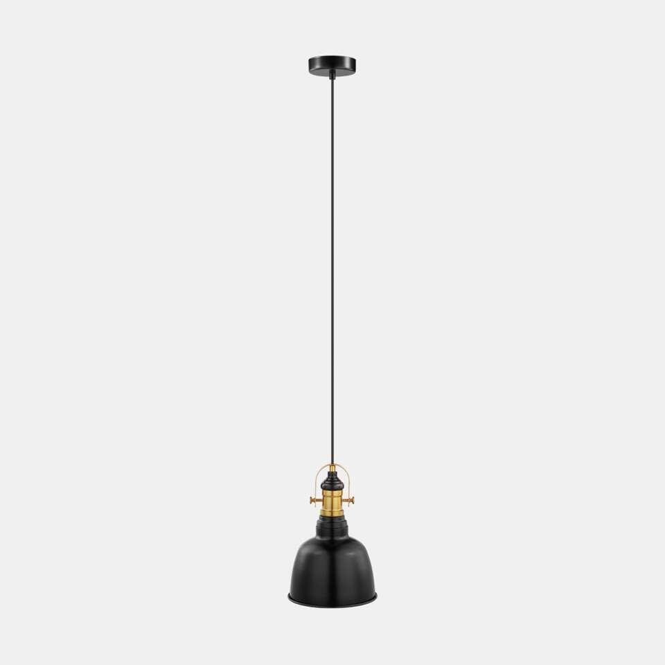 EGLO hanglamp Gilwell - zwart/brons - Ø18 cm - Leen Bakker