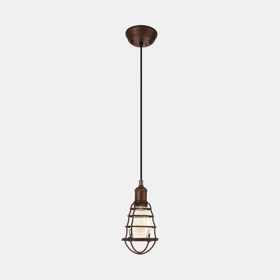 Hanglamp Port Seton van EGLO is een robuuste en grove hanglamp en past perfect in de industriële sfeer. De hanglamp is voorzien van een E27 fitting en is geschikt voor 1 lichtbron.