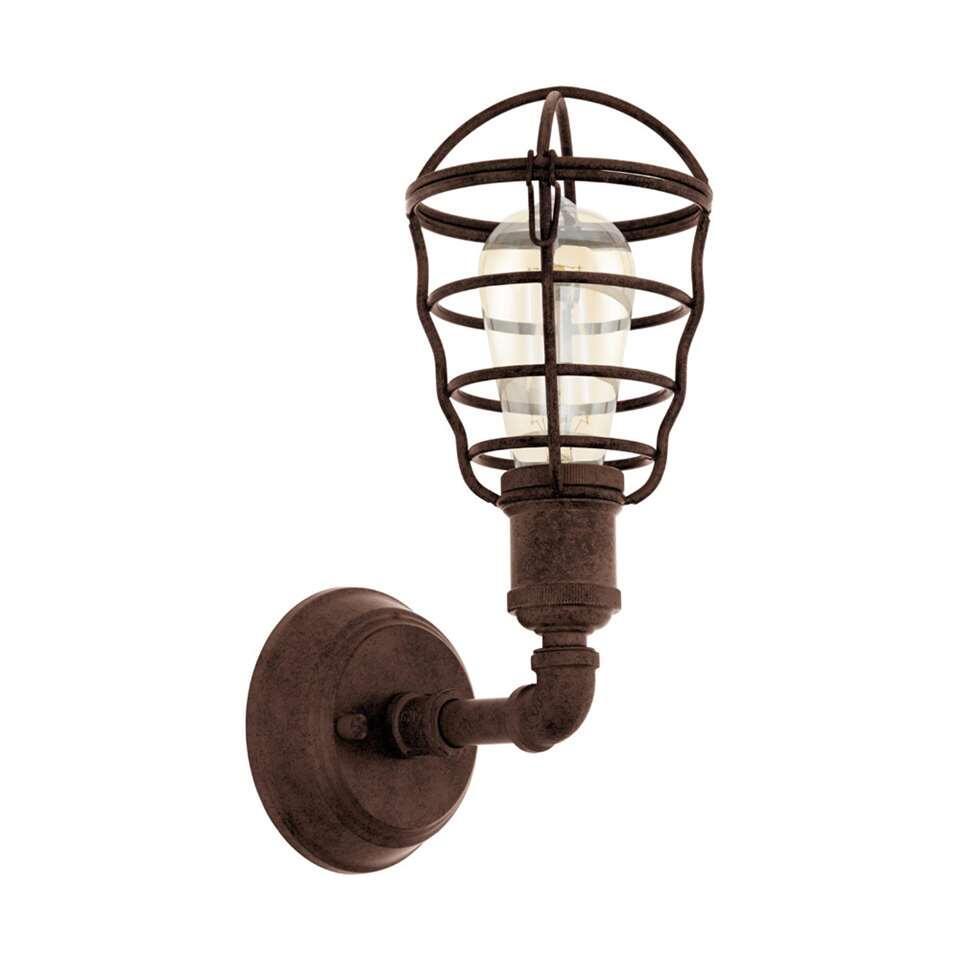 EGLO wandlamp Port Seton - oud bruin