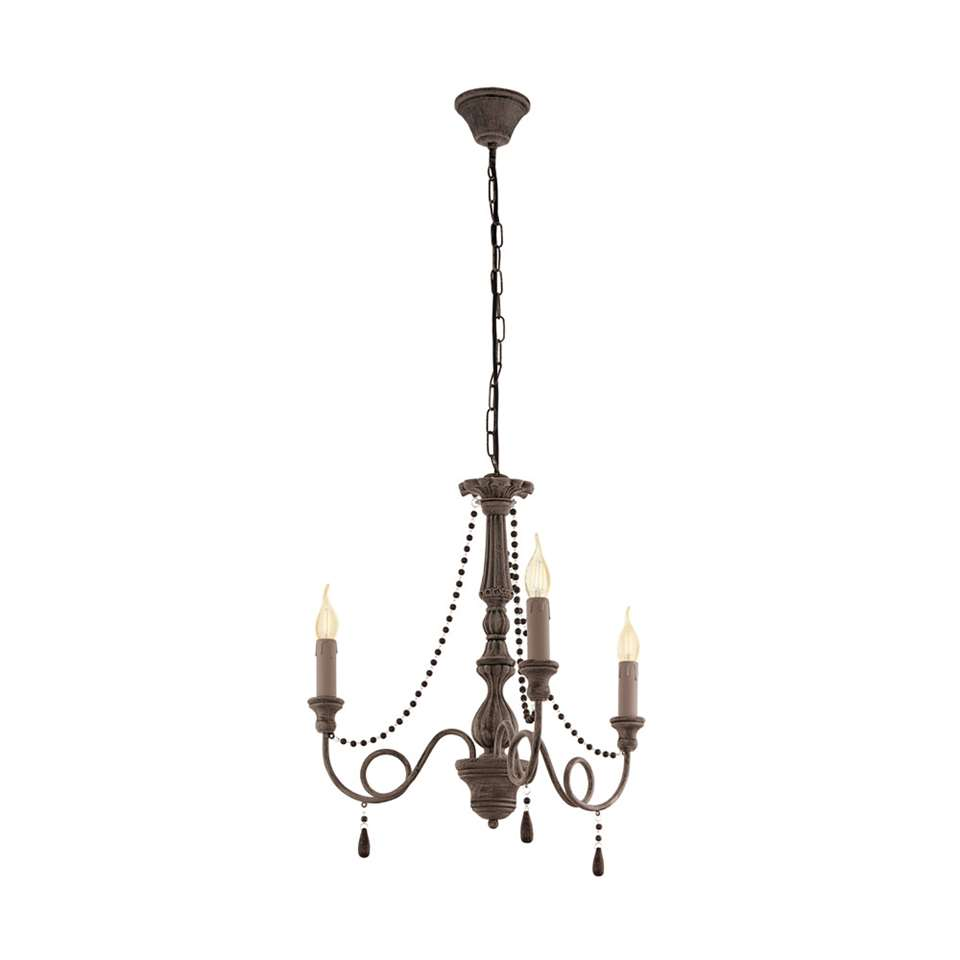 EGLO hanglamp Colchester 3-lichts - antiek taupe