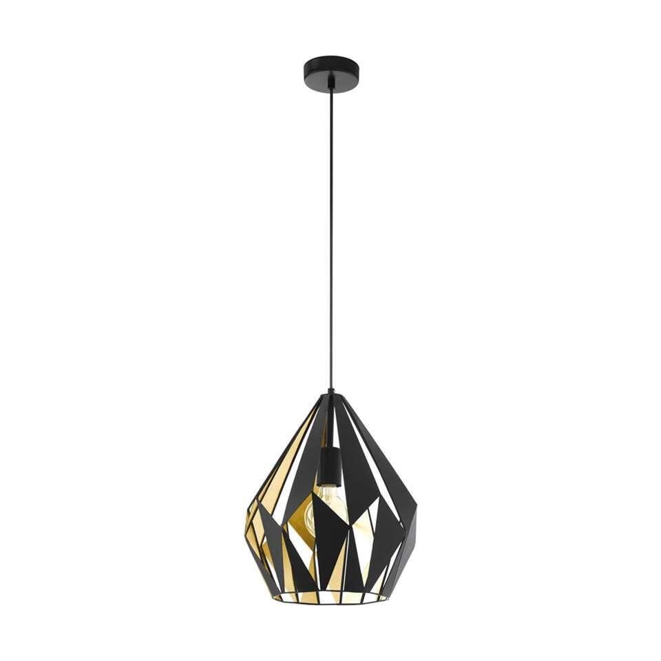 EGLO hanglamp Carlton 1 - zwart/goud - Leen Bakker