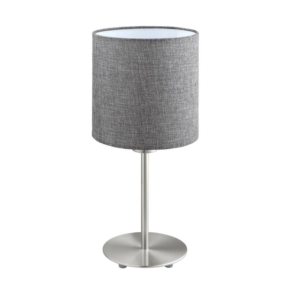 Tafellamp Pasteri van EGLO is een eenvoudige en strakke tafellamp en past daardoor pefect in elk interieur. De grijze, stoffen lampenkap zorgt voor een gezellige sfeerverlichting.