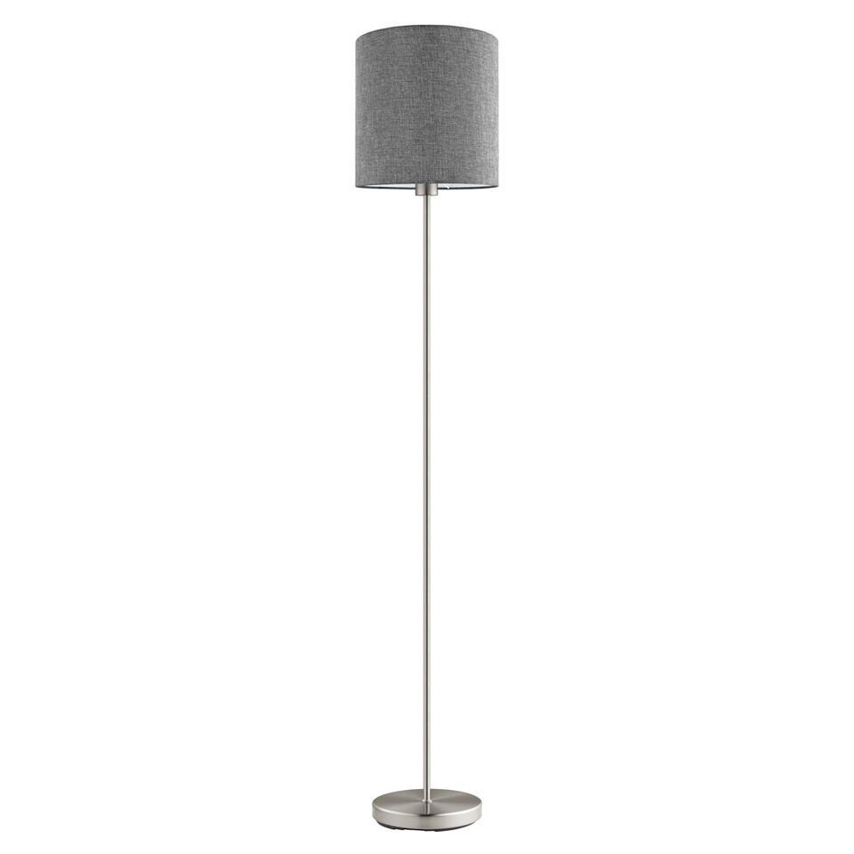 EGLO vloerlamp Pasteri - grijs - Ø28 cm - Leen Bakker