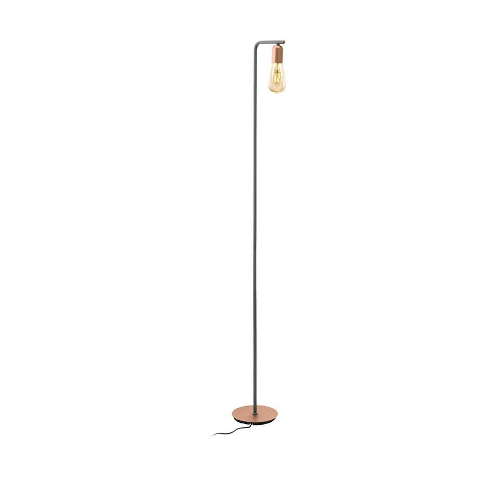 EGLO vloerlamp Adri - rosegoud - Leen Bakker