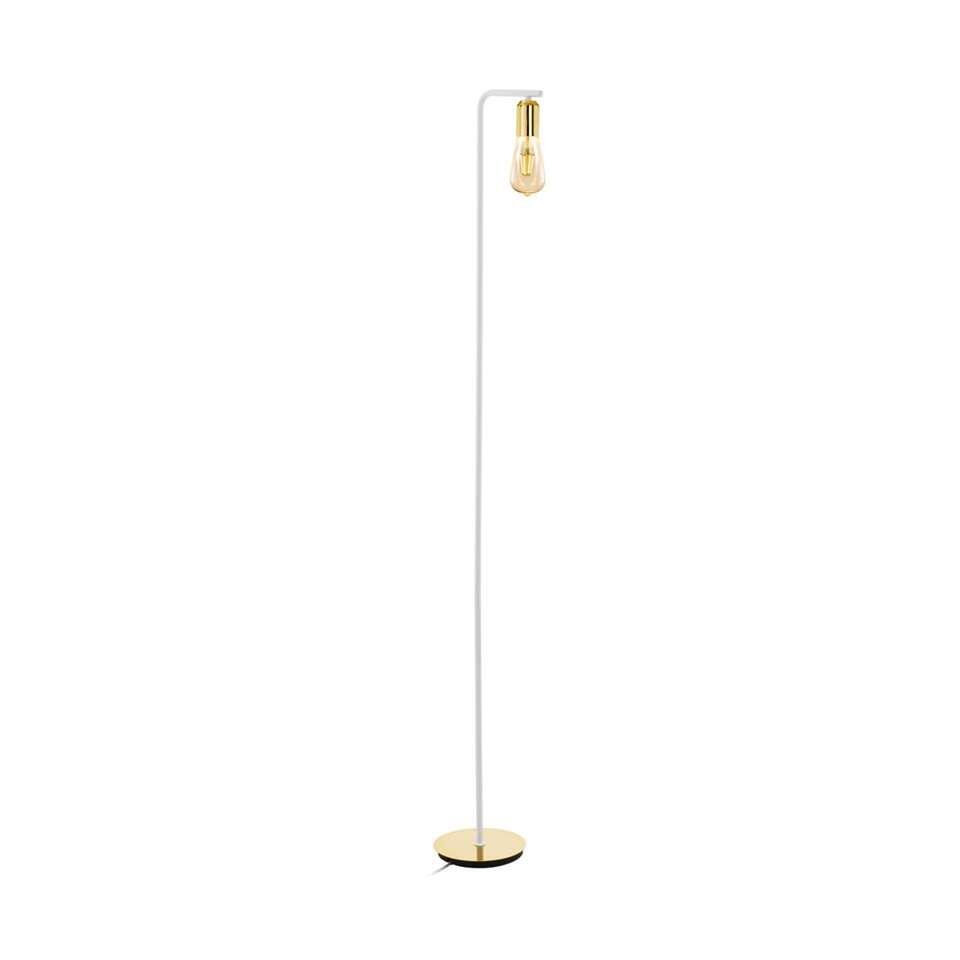 EGLO vloerlamp Adri – wit/goud – Leen Bakker