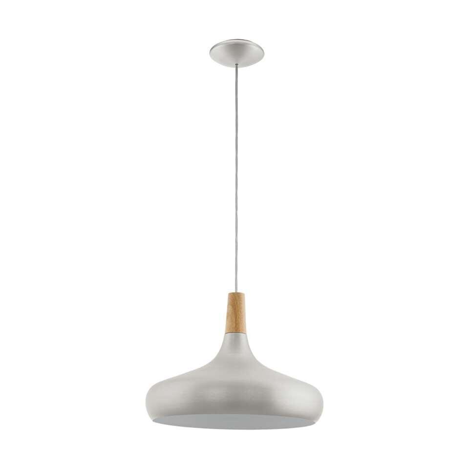 EGLO pendel Sabinar - mat zilver/bruin - Ø40 cm - Leen Bakker