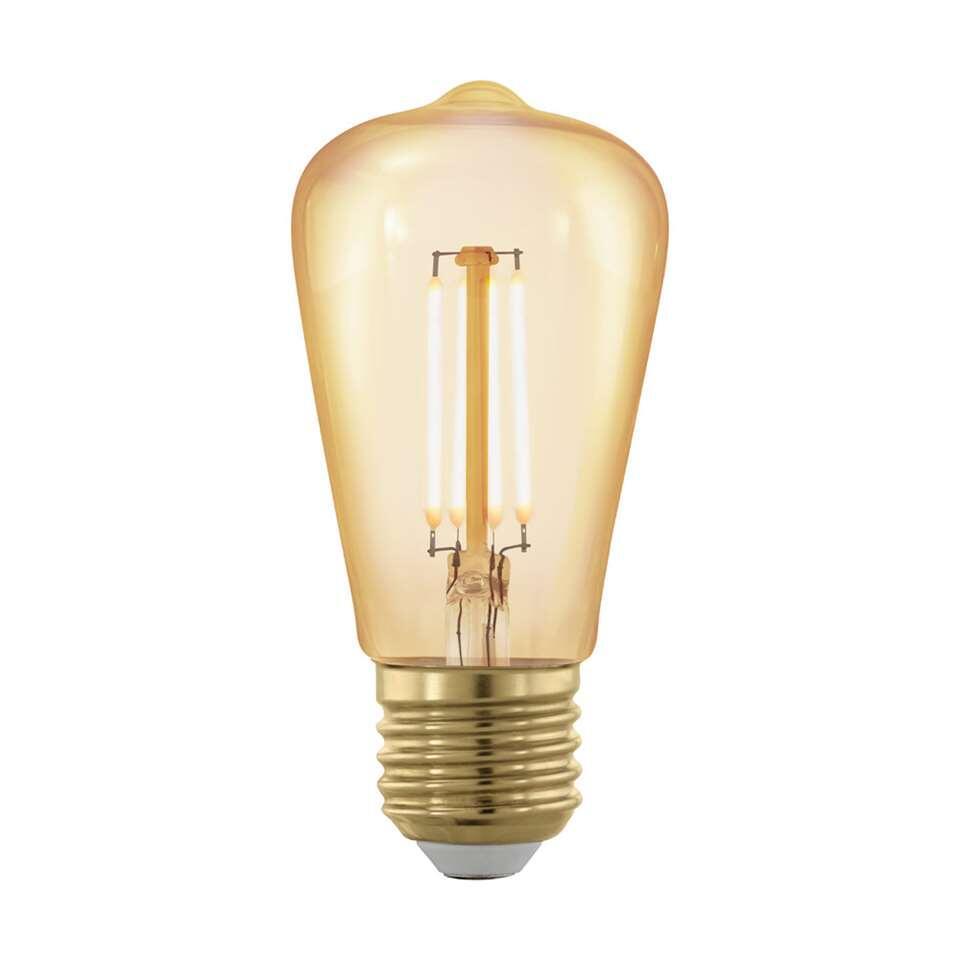 Deze dimbare LED lamp van EGLO is een lichtbron die je heel mooi kunt combineren met een lamp met open ontwerp. Door de extra warme lichtkleur krijgt de lichtbron een sfeervolle uitstraling en bespaart bovendien nog energie tot we
