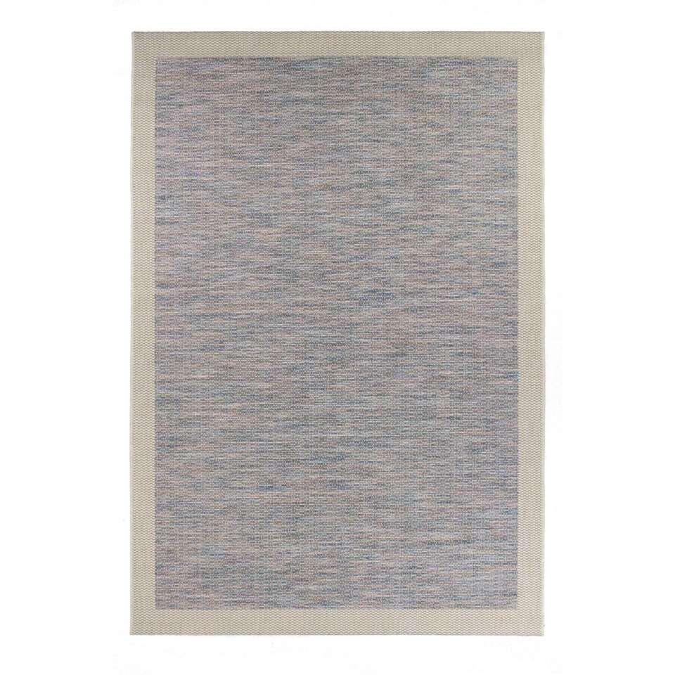 Vloerkleed Holt - blauw - 135x190 cm - Leen Bakker