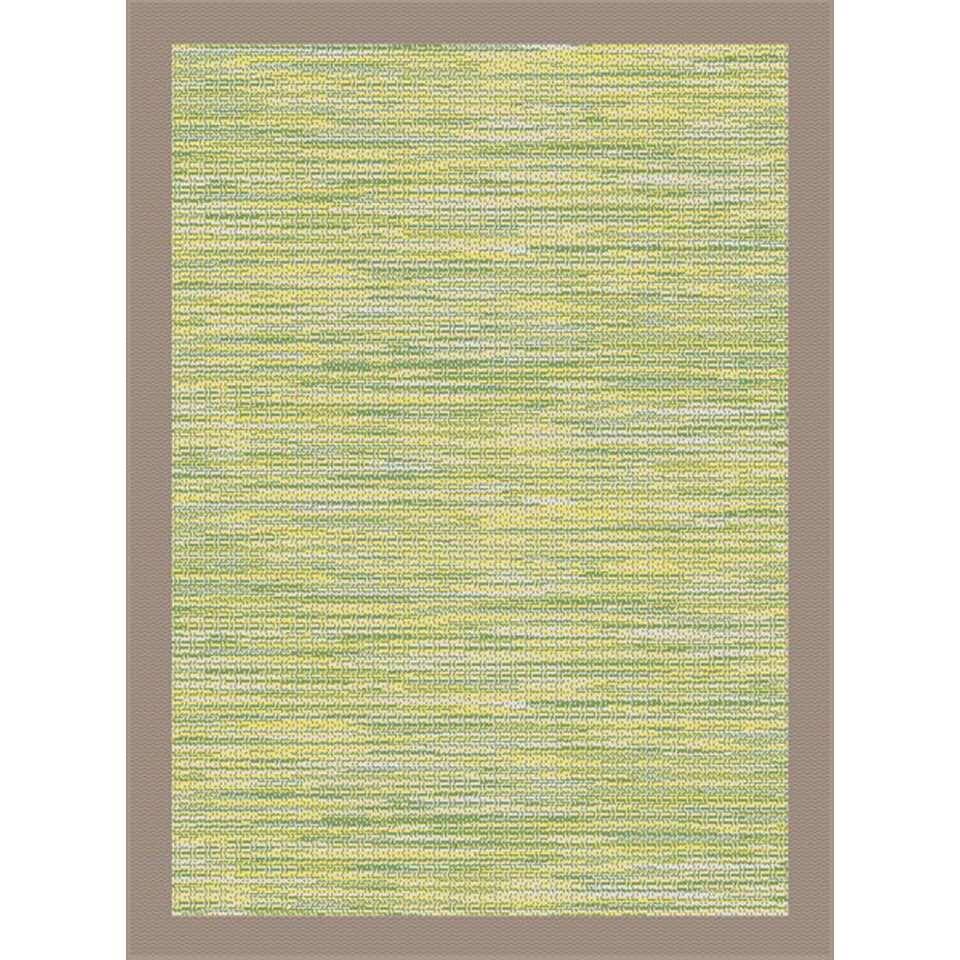 Vloerkleed Holt - groen/taupe - 80x150 cm - Leen Bakker