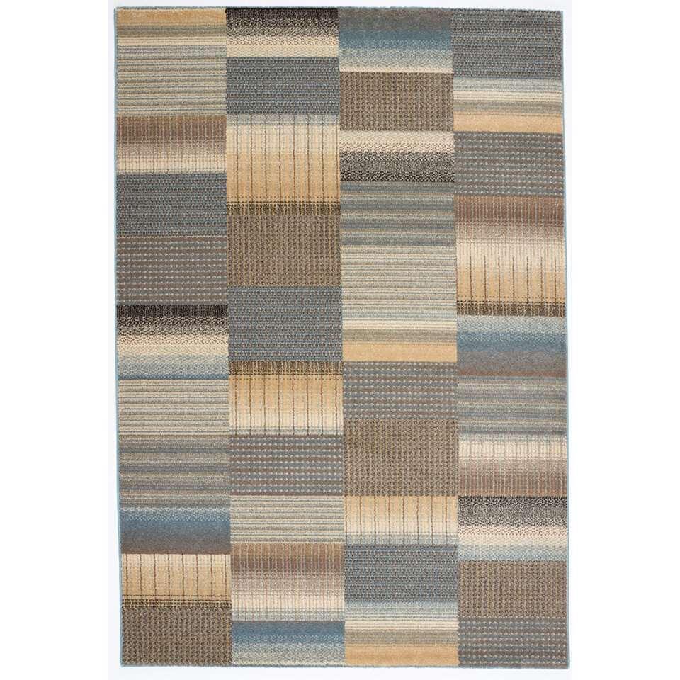 Vloerkleed Corby - blauw - 80x150 cm - Leen Bakker
