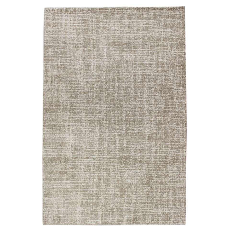 Vloerkleed Yate - beige - 135x190 cm - Leen Bakker