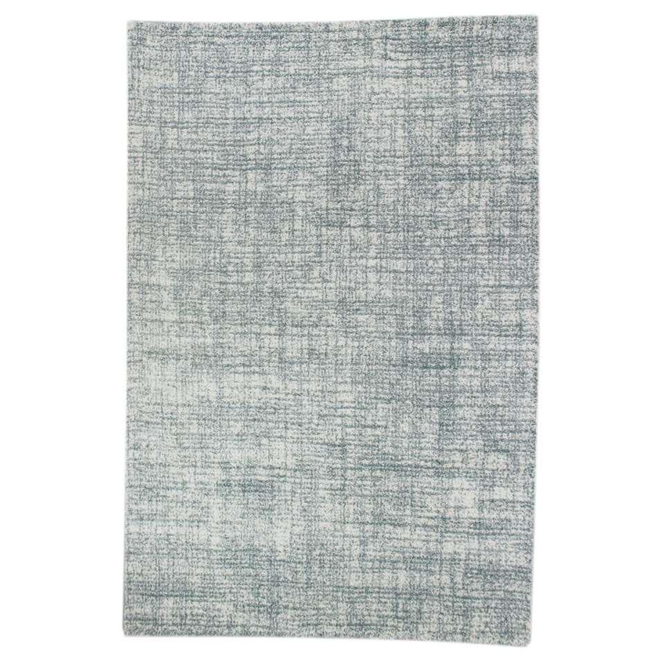 Vloerkleed Yate - blauw - 135x190 cm - Leen Bakker