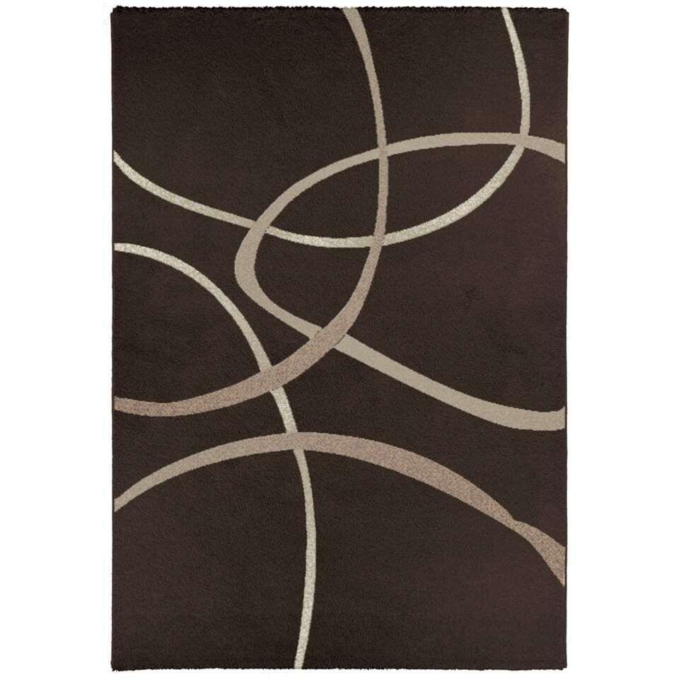 Vloerkleed Filton – donkerbruin – 120×170 cm – Leen Bakker kopen Vloeren? Dat doe je hier snel en voordelig – snel in huis bezorgd