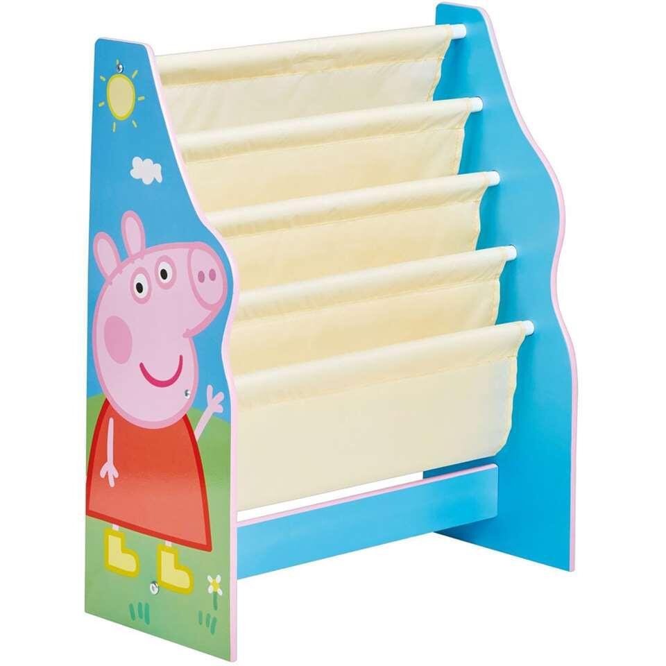 Boekenrek Peppa Pig - 60x23x51 cm - Leen Bakker