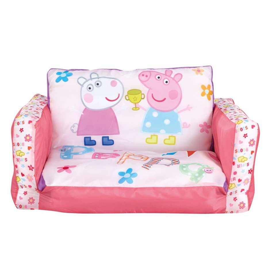 Uitklapbaar stoeltje Peppa Pig - roze - Leen Bakker