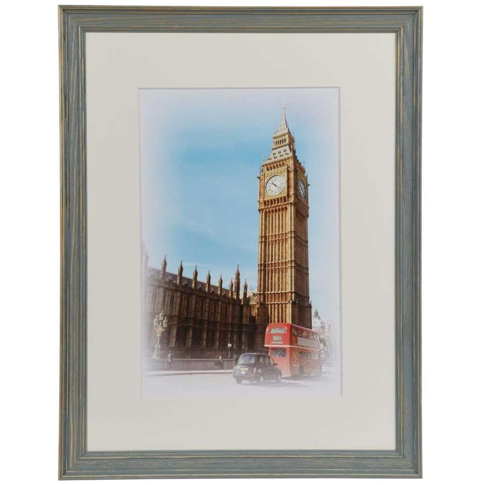 Henzo fotolijst Capital London - blauw/grijs - 30x40 cm - Leen Bakker