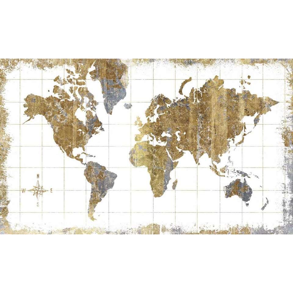 RoomMates stickerbehang Wereldkaart - 91x152 cm - Leen Bakker