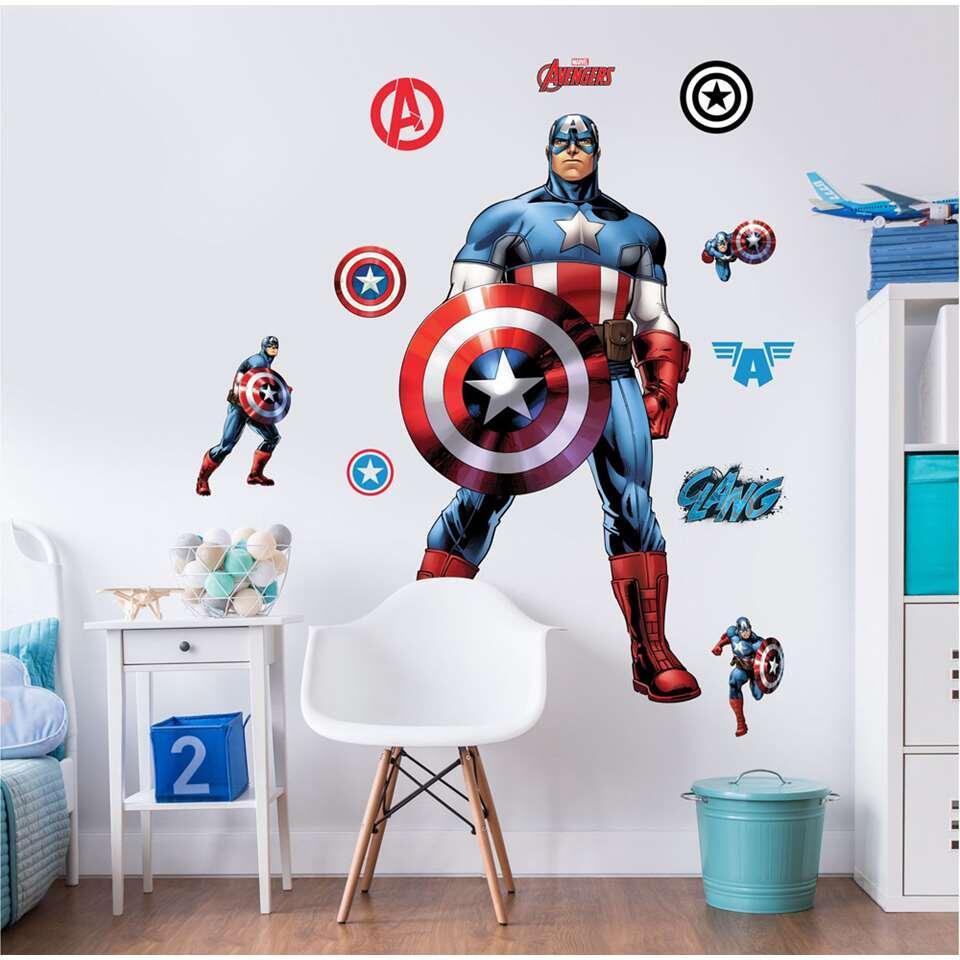 Walltastic muursticker Captain America - 122 cm - Leen Bakker