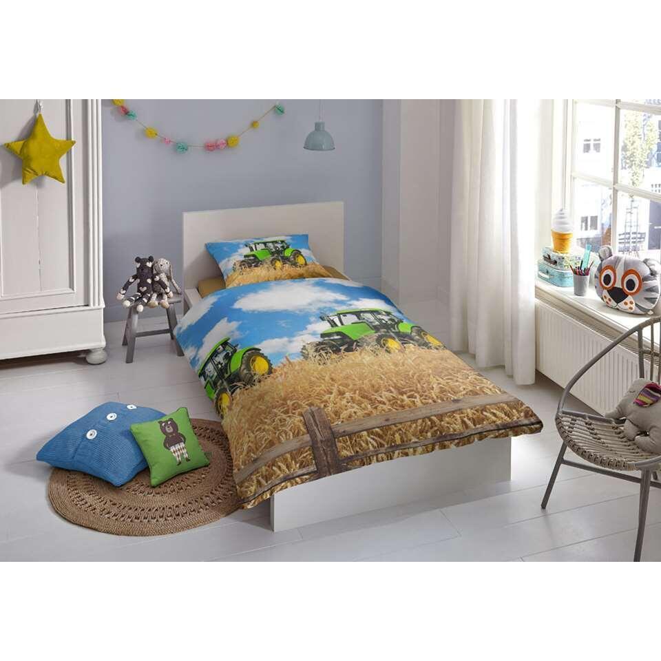 Good Morning dekbedovertrek Tractor - multikleur - 140x200/220 cm - Leen Bakker